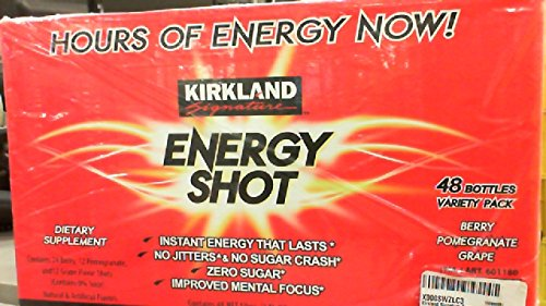 Kirkland Signature Energy Shot 48 Count 2 Oz 24 Berry