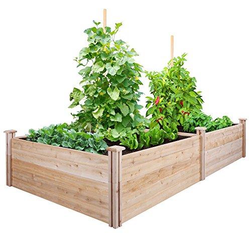 Greenes Fence Cedar Raised Garden Kit 4 Ft X 8 Ft X 17 5