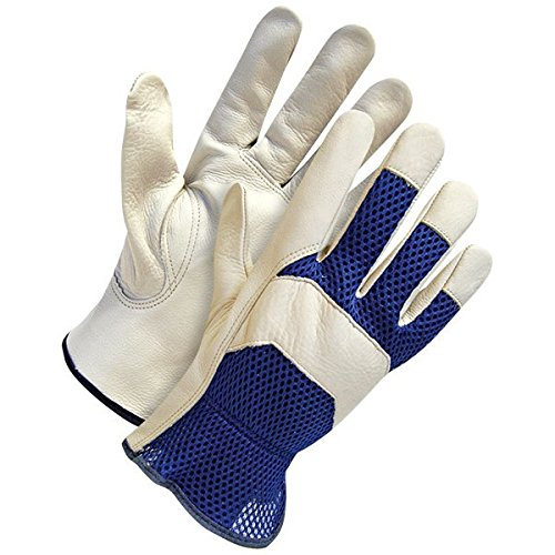 Pixpri Goatskin LEATHER Gardening Gloves – Comfort Fit 3D ...