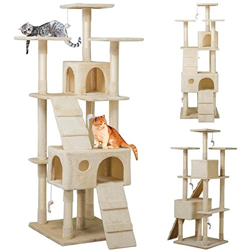 Yaheetech 73 Inch Large Cat Tree Scratcher Play House