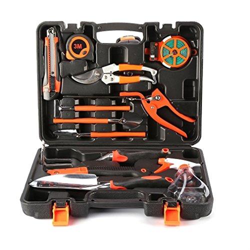 Garden tool set 12 pieces gardening hand tool kit plant for Gardening tools kit set