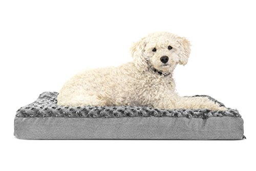 Furhaven Pet Ultra Plush Deluxe Memory Foam Pet Bed Gray