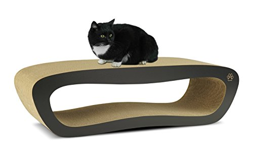 Oliver iris premium cat scratcher hollow long curved for Curved cat scratcher