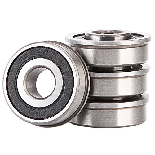XiKe 4 Pack ID 1/2″ x OD 1-3/8″ Flanged Ball Bearing, Lawn