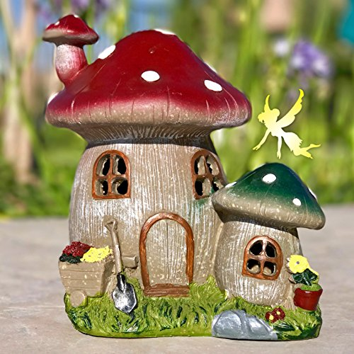 Fairy garden house solar power mushroom light creates an enchanting fairy garden house solar power mushroom light creates an enchanting glow at night makes any outdoor garden magical lights up automatically from dusk to aloadofball Choice Image
