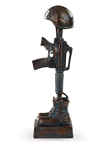 Military Soldier Battle Cross Patina 11 75 Inch Resin