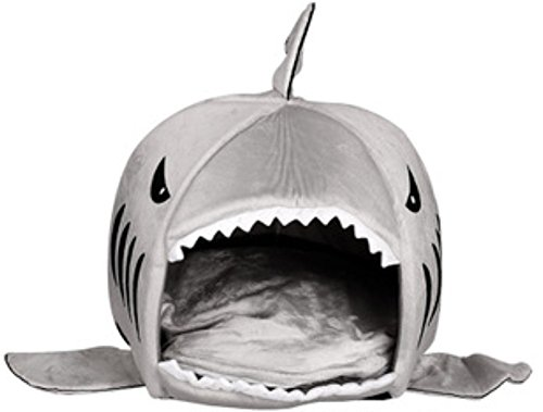 Cat Sister Colorfulhouse Shark Round House Puppy Bed With