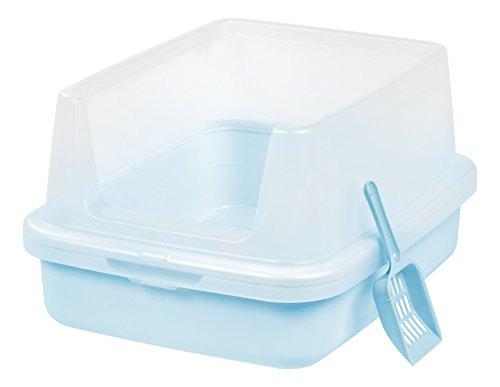 Iris Open Top Litter Box W Shield Scoop 8 69 At: IRIS High-shield Open Litter Pan Set, Blue