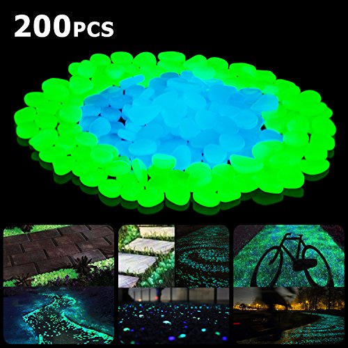 please put them in the dark environment 2 sunnest glow in the dark garden pebbles will be the most cost effective and eco friendly way to turn your garden - Glow In The Dark Garden Pebbles