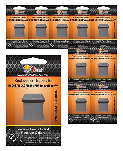 4 Pack Invisible Fence Collar Replacement Battery New