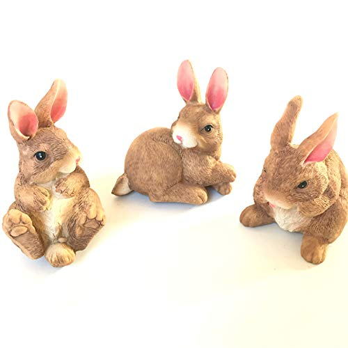 Elaan31 Rabbit Statue For Garden Den, Cute Bunny Figure