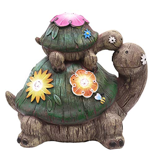 Perfect Size This Stacked Up Turtle Figurines Is 6 7x4 3x6 5inch Patio Courtesy Light Suitable To Use As A Path
