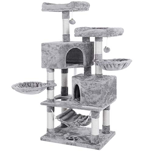Bewishome Multi Level Cat Tree Condo With Sisal Scratching